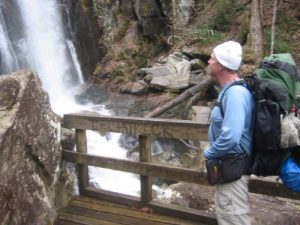 <b>High Shoals Waterfalls (80 Feet)</b><br> Here's a look at the eighty foot waterfalls from a platform at the base area.