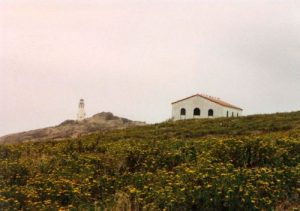<b>Anacapa Island Lighthouse</b><br> The ranger had an evening program in this museum to the right of the lighthouse.