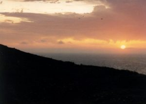 <b>Sunset From Anacapa Island</b><br> It was cool and windy after the sunset this evening and pitch black by 10pm.