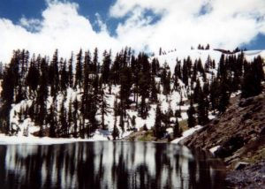 <b>Siphon Lake</b><br> At least half of Siphon Lake was frozen over which didn't make for very good trout fishing.