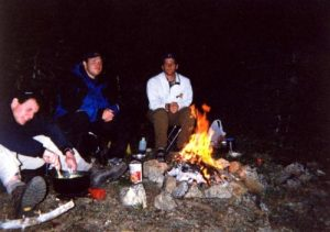 <b>Cooking Dinner And Enjoying The Campfire</b><br> After getting taking the wrong turn at a trail intersection, we finally made our way to Siphon Lake, made camp on a nearby ridge and sat down to cook dinner.