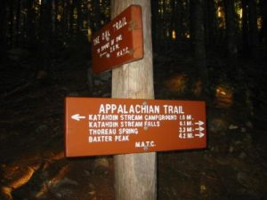 <b>Trail Junction Near Katahdin Stream Falls</b>