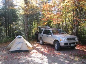 <b>Our Campsite At Nesowadnehunk Campground</b>