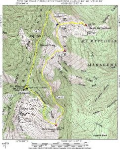 <b>Mount Mitchell Topographical Map</b>