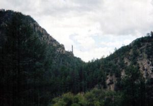 <b>Looking up the canyon</b><br> The view toward White Creek Flats from about the 7 mile mark, looking West.