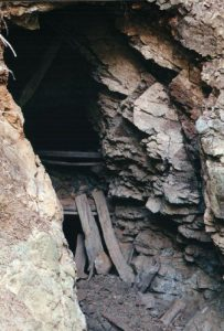 <b>Mine Shaft</b><br> One of the many you will enocunter in your hike. This one is safe, and extends about 350 feet into the mountain.