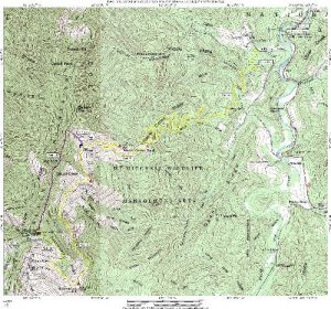 <b>Mount Mitchell Shuttle Hike Topographical Map</b>