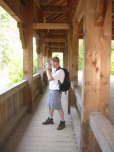 <b>Shooting Photos From The Covered Bridge</b>