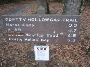 <b>Nellie (Trailhead For The Pretty Hollow Gap Trail)</b><br> It is 9.6 miles to the Laurel Gap Shelter from the trailhead.