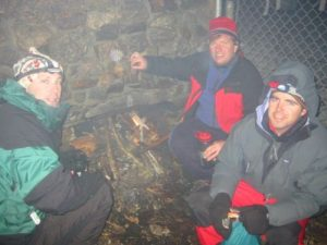 <b>Stokin' Up A Fire At Laurel Gap Shelter</b><br> The temperatures dropped quickly after dark, and we made our best attempt at getting a fire going with the damp wood that was left in the shelter.