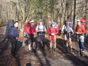 """<b>MLK Hikers Near Nellie (On The Pretty Hollow Gap Trail)</b><br> This was the last time we would see sunshine for 48 hours. Thunderstorms, rain, sleet, and 6-8"""" of snow were only hours away."""