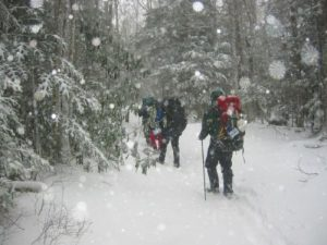 """<b>Balsalm Mountain Trail (Day Two)</b><br> We spent all of Saturday (day two of the trip) hiking in snow. There were 3-4"""" on the ground by the time we left Laurel Gap Shelter."""