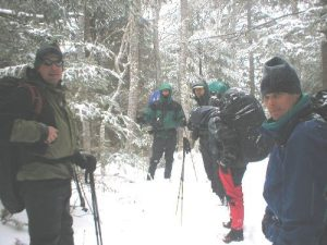 <b>Hiking The Balsam Mountain Trail</b><br> It snowed non-stop while we hiked toward Balsalm Mountain Campground.