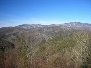 <b>Mountains Near Polls Gap</b><br> This was the view to our right as we hiked down from Polls Gap.