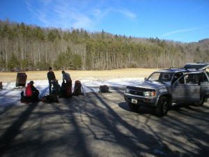<b>Back To Cataloochee Valley</b><br> Here we are as we finished up the hike at the Rough Fork Creek Trailhead.