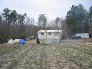 <b>Our Campsite At Otto's Bunker</b><br> There's not much room in the bunker, so we pitched our tents nearby.