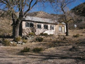 <b>Ranch House</b><br> 1970's vintage abandoned house built on old mine building foundations.