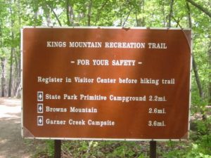 <b>The Trailhead</b><br> It's 8.2 miles to the Garner Creek Campsite with a side-hike up to Browns Mountain.