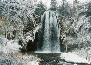 <b>Spearfish Falls after Snowfall</b><br> Here are the falls on our last day after about 2 inches of fresh snow from the night before.
