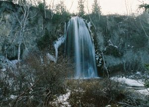 <b>The Falls</b><br> Here is a longer exposure of Spearfish Falls before the snowfall.