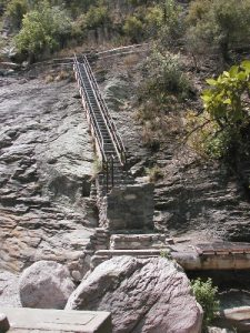 <b>Death Staircase</b><br> This leads to a beautiful waterfall and pool with trout, but its steeper than it looks here.