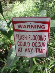 <b>Flash Floods</b><br> We saw these signs frequently along the road to Hana, particularly near the waterfalls and natural pools.