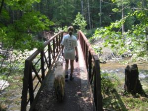 <b>Crossing The Whitewater River...</b><br> .... to junction with the Foothills Trail.