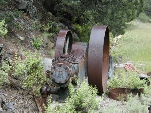 <b>Steam driven Pump</b><br> A Rolls Royce steam driven water pump, used to keep one of the area mines empty and workable.