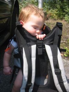 <b>Tough Day At The Office</b><br> The child backpack works better than a 25 cent vibrating bed!