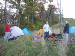 <b>Our Campsite</b><br> Siler can get some nasty storms and heavy wind at times, and many people prefer staying at the shelter. Fortunately, we had decent weather during our trip.