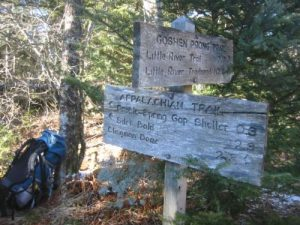 <b>Goshen Prong Trail Junction With The A.T.</b><br> We spent the entire day climbing to the Appalachian Trail from 2200' to nearly 5800'.