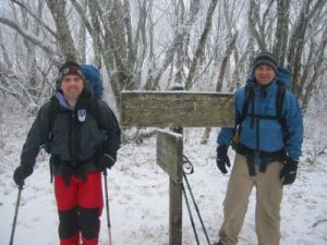 <b>McKinney And Brady</b><br> Here we are at the start of the Bote Mountain Trail where it meets the A.T. at about 5000'.