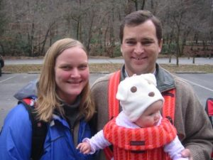 <b>Swiss Family Robinson</b><br> Posing for a quick photo at the trailhead in Deep Gap.