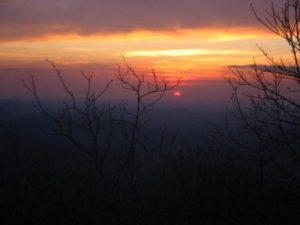 <b>Springer Mountain Sunset</b><br> The sunset at Springer Mountain.