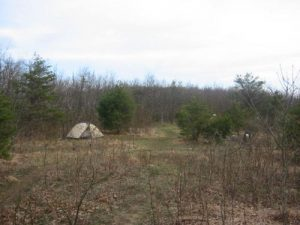 <b>Meadow Camping</b><br> Camping in a meadow near Springer Mountain.