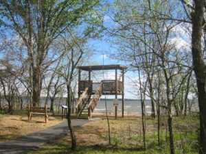 <b>Viewing Tower</b><br> The viewing tower looking south to Grand Lake.