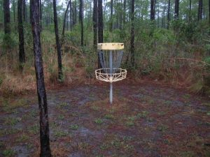 <b>Frisbee Golf</b><br> We saw a bunch of these baskets near the start of the trail and finally figured out that they were for frisbee golf - not what you'd expect to see on the bayou, but interesting in their placement nonetheless.