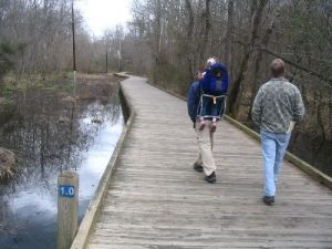 <b>The Boardwalk At Mile 1.0</b><br> Sections of the trail are pretty swampy - especially in the winter, and early spring - so there is a fair amount of boardwalk in places along the creek.