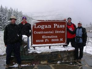 <b>Logan Pass</b><br> This picture was taken just across the street from the Highline Trailhead near the Logan Pass Visitor Center.
