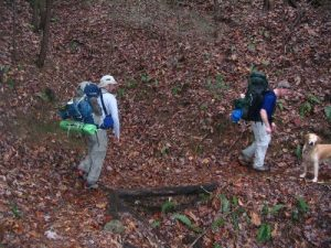 <b>Hiking The Foothills Trail</b><br> Here we are hiking down toward the Chattooga River on a wet winter afternoon.