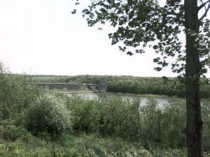 <b>Dillon Dam</b><br> Dillon Dam from an overlook off OH 146.