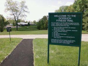 <b>Trailhead To Gorsuch Fitness Trail</b><br> The official start of the Gorsuch Fitness Trail near the nursing home.
