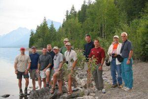 <b>Group at Lake McDonald</b>