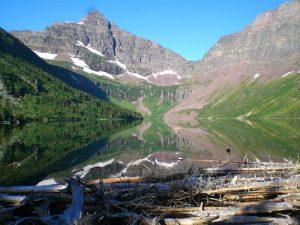 <b>Upper Two Medicine Lake and campsite</b>