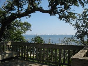 <b>Observation Platform</b><br> This is the view out to Santa Rosa Sound and across to Pensacola Beach.