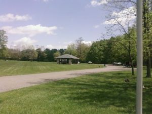 <b>The Fields And Picnic Area</b><br> The Creek Trail starts to the left of the picnic pavillion in the picture.