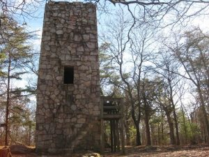 <b>The Stone Tower</b><br> Here's what awaits you at the top of Fort Mountain. Unfortunately, you can no longer climb to the top of the stone tower.