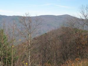 <b>Cohutta Mountains</b><br> Views of the surrounding Cohutta Mountains on the drive from Fort Mountain State Park to Ellijay, GA.