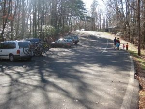 <b>Fort Mountain Parking Area</b><br> This is the parking area on top of the mountain that leads to the Stone Tower.