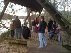 <b>Guided Tour On The River Boardwalk Trail</b><br> A naturalist leads a talk on beavers and their habitat along the Chattahoochee River.